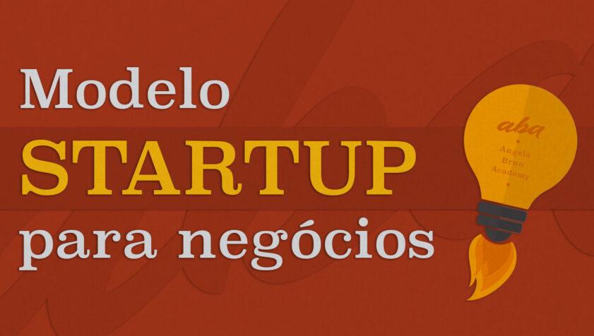 Modelo Startup para negócios e lampada com chamas em representação a foguete.